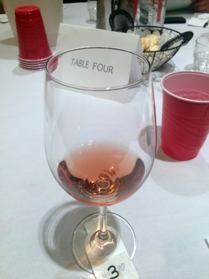 Flight 6 - Rose - Off Dry to Semi-Sweet (from another table).