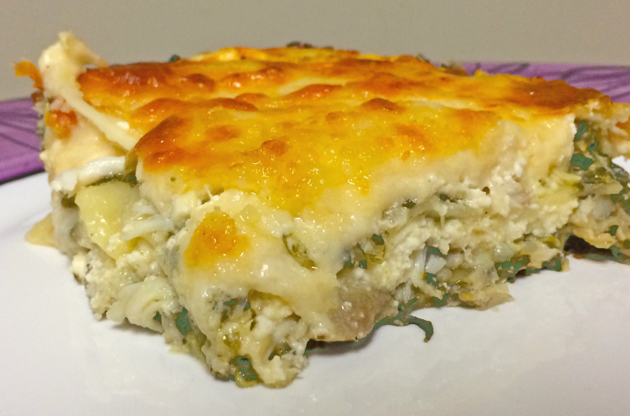 Crab and Spinach Lasagne